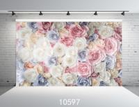 fond de toile de vinyle achat en gros de-Arrière-plans photographiques Bébé Fête De Mariage Floral Photo Décors En Tissu Vinyle Fond Pour Photo Studio Fundo Fotografia