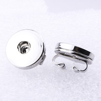 Wholesale accessories ring snap resale online - 12mm mm Snap Button Accessories Findings Metal Button to Make DIY Snap Bracelet Necklace Snap Jewelry