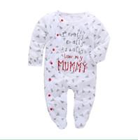 bebekler için pijamalar toptan satış-2018 Bebek Giysileri Pijama Yenidoğan Bebek Tulum Pamuk Bebek Uzun Kollu Tulumlar Erkek Kız Sonbahar bahar Bebek giyim seti