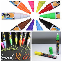 Wholesale Wine Markers - 8pcs 1 lot Colorful Marker Pen for Ceramic Glass Plastic Wood Paper Paint Marker Office School Supplies Writing on Board Glass KKA5188