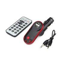 araba uzaktan alıcısı vericisi toptan satış-Bluetooth Araç Kiti AUX USB Telefon Araç Şarj Hands Free FM Verici Kablosuz Alıcı MP3 Çalar Bluetooth adaptörü uzaktan