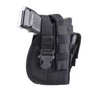 Wholesale plastic buckles for belts - Nylon Tactical Molle Gun Pistol Holster with Extra Mag Pouch for 1911 45 92 96