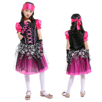 Wholesale girl suit dance costume - Children's Day Performance Costumes Girls Dance Costume Princess Dresses Girls' Suits Cosplay Pirate Thief Halloween Costumes