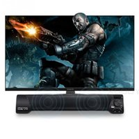 Wholesale computer phone systems - Multi-function soundbar to 3.5mm audio Stereo 2.0 Single sound bar Speaker System with MIC for TV computer phone Home karaoke