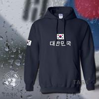 homens hoodie coreia venda por atacado-Coreia do sul hoodies camisola dos homens suor novo streetwear futebol jerseyes futebolista fato de treino nação coreano bandeira de lã KR