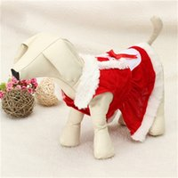 Wholesale santa coat clothes resale online - Popular Christmas Dog Clothes Body Fitting Santa Claus Classic Europe And America Dogs Pets Easy To Use we dd