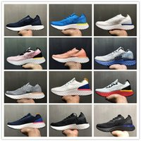 Wholesale outdoor weights - Black Red White Blue Epic React Fly knit Bubble Breath Running Sports Shoes for Men Women Cheap Light weight Jogging Trainers Sneakers UK3-9