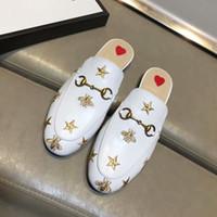 ko großhandel-2018 neue Baotou Hausschuhe echte Leder Hausschuhe High-End benutzerdefinierte paar Hausschuhe Mode Schuhe für Männer und Frauen