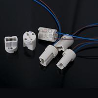 g9 lamba soketi toptan satış-G9 Seramik Lamba Tutucu (dışarı) Tel G9 Işık Boncuk Halojen Ampuller için Soket Tutucu LED