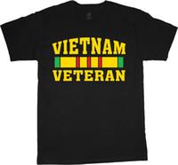 exército de usmc venda por atacado-Vietnam veterano camisa para os homens do exército da marinha marines usmc vet preto t-shirt 2018 de manga curta, o-pescoço 100% algodão, impressão mens verão,