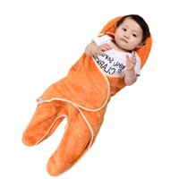 Wholesale Flannel Quilts - Baby Blanket Neonatal Hold 0-1Y Flannel Hooded Blanket Swaddling For Toddlers Infant Envelope For Newborns Bathrobe Towel XHY004
