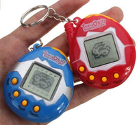 digitale haustiere großhandel-Tamagotchi Tumbler Spielzeug perfekt für Kinder Geburtstagsgeschenk Dinosaurier Ei virtuelle Haustiere auf einem Schlüsselbund Digital Pet elektronisches Spiel DHL frei