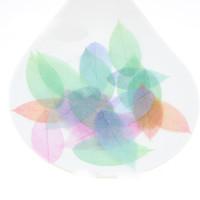 ingrosso filato verde blu-Garza colorata foglie orecchino Accessorio filato tessuto di pizzo foglie per i risultati di gioielli fatti a mano fai da te 4 dimensioni verde blu arancione