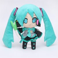 Wholesale Miku Vocaloid Plush - Anime Hatsune Miku VOCALOID Series Virtual Singer Smiles 24CM Snow Hatsune Miku Plush Toy Stuffed Soft Dolls for Children Gift
