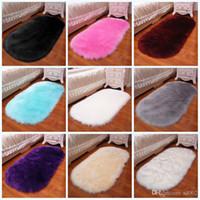 напольные дисплеи оптовых-Противоскользящие мягкие кровати ковры гостиная коврик легко мыть шерсть, как кашемир ковер подушки дома чайный столик дисплей 90mk3 jj