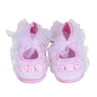 Wholesale baby rose soft sole shoes for sale - Group buy Newborn Crib Soft Sole Shoe Newbron Baby Pre Walker Shoes Rose Flowers Baby Shoes Soft Roses Floral Infant hot sale summer