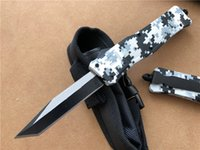 Wholesale wholesale camping tool online - 8 inches Microtech Medium Double action automatic Tactical knives Winter Digital Camo A161 EDC Hunting Tools Survival Knife P53Q F