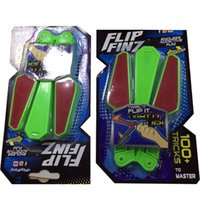 Wholesale flip knives resale online - Fidget Spinner Yulu Luminescence Toy Student Party Favor Rotate Butterfly Knife Flip Finz Led Light Up Decompression Creative xc V