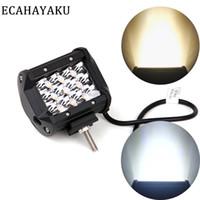 12v led luces de caída al por mayor-1pcs de 4 pulgadas de coches Barra de luz LED lámpara del trabajo 6000K 18W 27W 36W 60W LED de 12V para campo a través 4x4 ATV barco del carro del envío de la gota