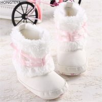 ingrosso stivali da principessa-Hongteya Lovely Pink Bow Inverno Super Warm Newborn Baby Kid Prewalker Scarpe Princess Girl Crib Tenere stivali caldi Booties