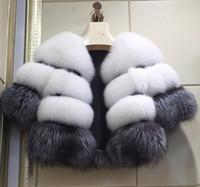 abrigos largos de piel de zorro al por mayor-Escudo Mujer Abrigo de invierno ropa de abrigo de imitación de piel de Fox de las nuevas mujeres de invierno de la manera de las mujeres largas de la manga