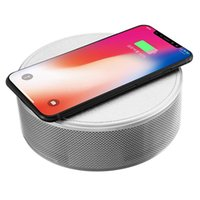 Wholesale portable app mp3 player for sale - 2018 Trending Products BQB CE ROHS Certification Support APP Control AUX MP3 NFC FM Wireless Charger Wireless Speakers