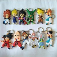 Wholesale key chain ball resale online - Dragon ball key chains CM Key Ring anime dragon ball Pendant Son Goku Krillin Key Chains Pendants design KKA5773