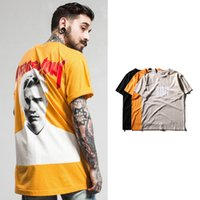 Wholesale x men long sleeve t shirt - Justin Bieber Print Summer T shirt Purpose Tour x Staff Short Sleeve 100% Cotton Shirt Kanye Hip Hop Streetwear LHG1207