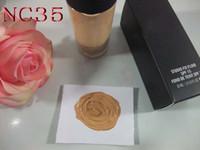 ingrosso evidenziatore marrone-Nuovo marchio Moisturizer Studio fix Foundation SPF15 NC / NW colori Trucco per la cura del viso 30ML Cosmetici gratuiti DHL