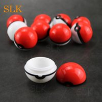 Wholesale solid herb vaporizer resale online - Personalized Dab Containers Ball Shape Round Shape Silicone Wax Container Non solid Color Pure Color Dry Herb Jars Dab for Vaporizer