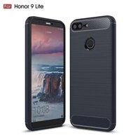 Wholesale huawei honor soft case - Soft TPU Case for Huawei Honor 9 Lite, Carbon Fiber Brushed Shockproof Non-flip Slim Back Cover