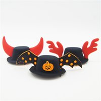 Wholesale classic costume jewelry wholesale - Halloween Christmas Series Pet Hat Dog and Cat Dedicated COS Dress Up Pet Products Party Dress Up Jewelry Prevents Falling Built-in Hairpin