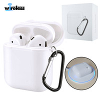 Wholesale qi wireless charge receiver online - Wireless Charging Receiver Case For Apple Airpods case cover QI Standard Airpods Wireless charger Receiver with package