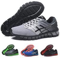 quality design 6a645 b3e0b 2018 Asics Gel-Quantum 360 II Neues Design Grau Weiß Schwarz Mens Kissen Laufschuhe  Original 2 2s Best Quality Athletic Sneakers