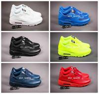 zapatos de moda usa al por mayor-2018 Chaussures hommes chaussures nike air max 90 HYP PRM QS Calzado de running Venta en línea Moda Día de la Independencia Zapatillas EE.UU. Bandera Zapatillas deportivas 40-46