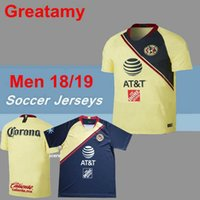 bde6acf81b6 2018 2019 LIGA MX Club America soccer Jerseys New home away Third Yellow  SAMBUEZA Camisetas O.Peralta football shirts