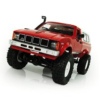 Wholesale Power 4wd - WPL C24 Remote Control 2.4G RC Crawler Off-road Car Buggy Moving Machine 1:16 RC Car 4WD Kids Battery Powered Car