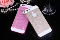 Wholesale mobile cell phone cover crystal for sale – best Luxury Crystals Flash Powder Shell Drill Mobile Cell Phone Cases Hard Back Cover For Iphone MPS10