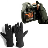 Wholesale shoot glove resale online - Waterproof Photographic Gloves Anti skid Warm Outdoor Camera Shooting Glove for Canon Nikon Sony Pentax Camera accessories S1025
