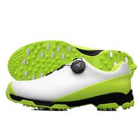 erkekler için burunlu ayakkabı toptan satış-Golf Ayakkabı Erkekler Pgm Su Geçirmez Spor Ayakkabı Topuzlar Toka Ayakkabı Örgü Astar Nefes kaymaz Ayakkabı için Erkek