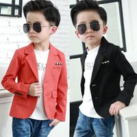 Wholesale small suit girl resale online - new Clothing male child casual suit jacket small formal dress top suit autumn kids coat baby clothing