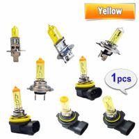 Wholesale xenon h7 car lamp for sale - Group buy 2018 New Yellow H1 H3 H4 H7 H8 H11 Halogen Bulb V W K Quartz Glass Xenon Car HeadLight Auto Lamp