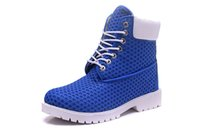 Wholesale blue nest - New Men Timber nest boots Mountaineering shoes blue for Men hiking Trainers boots Luxury Brand big tree log boots