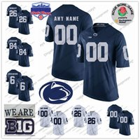 Wholesale rose numbers - Custom Penn State Nittany Lions College Football Limited white Navy Blue Rose Fiesta Stitched Any Name Number #9 38 11 PSU Jerseys S-3XL