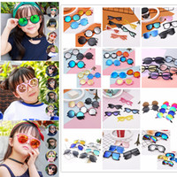 Wholesale cute baby girl sunglasses for sale - 12 Styles Fashion Cute kids sunglasses UV protection baby glasses tide children Korean version of boys girls Children sunglasses AAA686