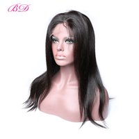 Wholesale body wave wig cap hairstyles for sale - BD Hair Popular Malaysian Body Wave Straight Human Hair Wigs Full Lace Wigs Medium Size Lace Cap