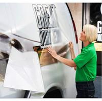 carteles de vinilo adhesivo al por mayor-Aplicación clara Cinta de transferencia Vinilo reutilizable Letrero de auto Arte de la pared Letrero autoadhesivo Fabricación de poste de pared Posicionamiento del paquete Película