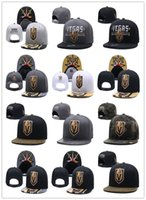 Discount pink gray snapback - New Caps Vegas Golden Knights Hockey Snapback Hats Cap Gold Black Gray Visor Team Hats Mix Match Order All Caps Top Quality Hat