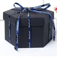 ingrosso regali felici del bambino-all'ingrosso Album fotografico fatto a mano Fai da te Scatola esplosione Scrapbook Gift Box Buon compleanno Sorpresa Box Baby Shower amanti regali