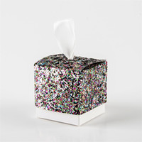 Wholesale gift wedding guests resale online - European Style Mermaid Sequins Candy Box Wedding Favors For Guest Sugar Boxes Color Retro Gift Wrap Supplies jm Ww